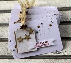 Stamping & Blogging Sketch78 Geschenke-Anhänger mit Project-Life Blankokarten