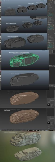 Amazing low-sculpt rock workflow!