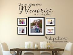 Family wall decal  Memories Wall Decal  by WallapaloozaDecals, $25.00