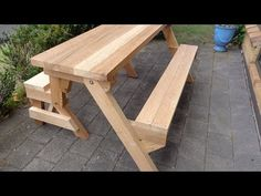 How To Make A Folding Table Woodworking Project - YouTube