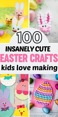 Are you looking for adorable Easter crafts for kids? Here is a collection of over 100 super fun Easter crafts that your kids will just love making. #eastercrafts #eastercraftsfortoddlers #eastercraftskids #eastercraftsactivities #DIYeastercrafts #springcr