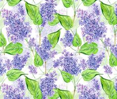 Watercolor lilac flowers wall tapestry #redbubble #walltapesrty #watercolor #watercolorpattern #lilac #katerinakart #homedecor #homedecorideas