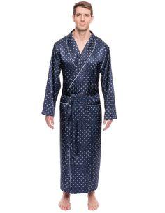 L XXL Mens Long Sleeve Cotton Check//Stripe Haigman Robe//Kimono NEW Size M XL