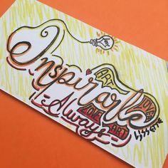 INSPIRarte!!! 🎨 Always!!! #inspirate L❤️VE ART ART L❤️VER #letrasbonitasconalmatinta #Almatintaletteringchallenge