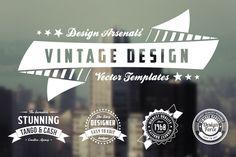Retro Logo & Badge Templates by Design Arsenal on Creative Market