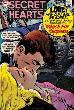 Secret Hearts Cover art: The sizzling Neal Adams. Bernie Wrightson, Comic Book Layout, Alex Toth, Romance Comics, Steve Ditko, Comic Book Artists, Comic Book Covers, Vintage Comics, Bruce Lee
