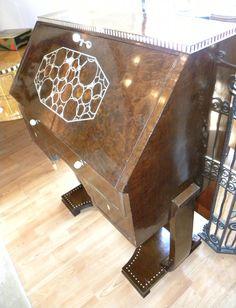 Ivoroid Inlaid Original Art Deco Secretary desk 1930′s