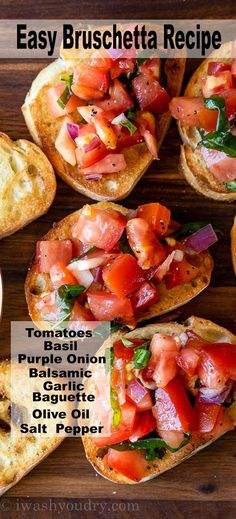 Quick And Easy Appetizers, Easy Appetizer Recipes, Yummy Appetizers, Bread Appetizers, Appetizers For Dinner Party, Easy Appetizers For Party, East Appetizers, Baguette Appetizer, Italian Appetizers Easy
