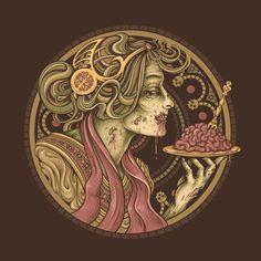 Bon Appetit (art nouveau zombie)