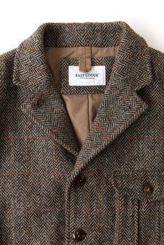 Harris Tweed Travel Jacket // Eastlogue // [Look _ : 네이버 블로그] Sharp Dressed Man, Well Dressed Men, Harris Tweed Jacket, Tweed Run, Style Masculin, Gents Fashion, Gentleman Style, Sport Coat, Men Dress
