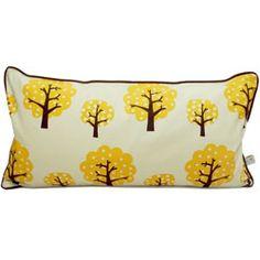 Ferm Living dotty yellow pillow