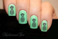 Pineapple Nail Wrap Decal for Natural or False Nails by azzai, $2.99