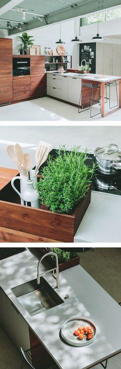 WALDEN Holz-Küche mit cleveren Ideen, nicht nur für Hobbyköche Bath Caddy, Ideas