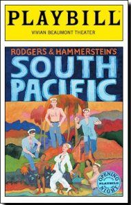 South Pacific Playbill for Broadway.