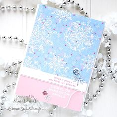 SSS January card kit 2017; SSS FROZEN FRACTALS; pink blue; pastel; soft; light effect; emboss resist; DIB; snowflakes