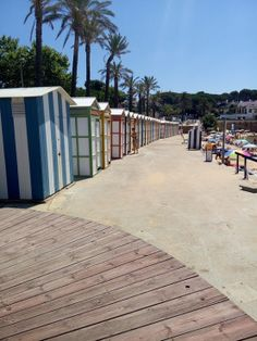 Omkleedhokjes aan Playa d' Aro