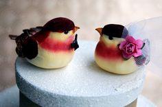Red Birds Wedding Cake Topper