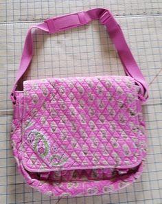 Vera Bradley Large Messenger Bag Bermuda Pink Paisley Crossbody #VeraBradley #MessengerCrossBody