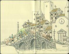 More Fantastic Drawings by Mattias Adolfsson