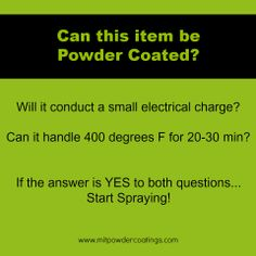 Can this item be powder coated? What items can be powder coated? #powdercoating www.MITPOWDERCOATINGS.com
