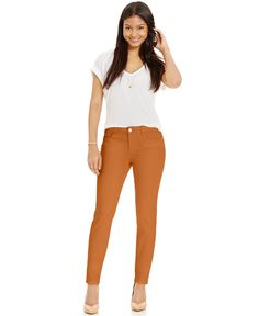 Celebrity Pink Juniors' Colored Wash Skinny Jeans (1/25, Winter Orange) -- Awesome products selected by Anna Churchill