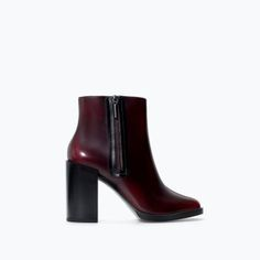 gorgeous burgundy heels from zara Pantone, Burgundy Heels, Zara New, Zara United States, Latest Trends, Peep Toe, Ankle Boots, High Heels, Footwear