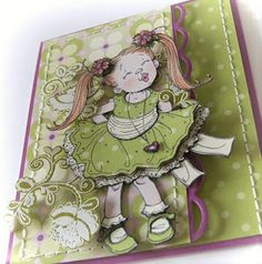 Penny Black Stamps & Paper: Kisses - paperpieced - Lace-Edged - Heat embossed in ivory on Fern Green Mix & Match Paper - For the car. Penny Black Cards, Penny Black Stamps, Scrapbooking, Scrapbook Cards, Mo Manning, Handmade Card Making, Beautiful Handmade Cards, Kids Cards, Baby Cards