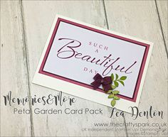 Click the image to visit my blog for lots more crafty inspiration from Lea Denton, Petal Garden Memories & More new from Stampin' Up! - Thailand Achievers Blog Hop #cardpack #freshfig #gvachieversbloghop #leadenton #stampinup #stampinupdemonstrator #thecraftyspark calypso coral easy Memories and More Petal Garden super simple speedy cards