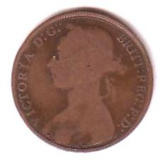 GB Queen Victoria One Penny Coin 1891 some good detail on both sides. Add to your collection from just 99p
