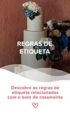 Descobre as regras de etiqueta relacionadas com o bolo de casamento. #regrasdeetiqueta #bolodecasamento #tiposbolocasamento #casamento #etiqueta #etiquetacasamentos #casamentospt Sincerity Bridal, Fondant, Cake, Cake Banner, Wedding Advice, First Night Romance, Wedding Gown Cakes, Weddings, Kuchen