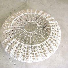 Large Crochet Pumpkin Shade