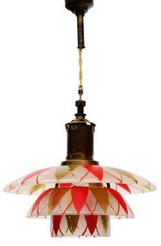 Unique pending Louis Poulsen lamp by Poul Henningsen 1927