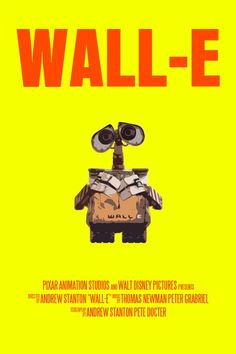 Wall-E Movie Poster FunnyFaceArt