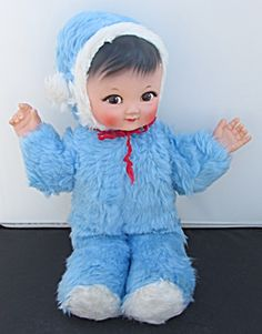 Boy Rubber Face Stuffed Doll With Cry Box When Tilted