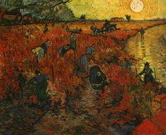 Vincent Van Gogh (Peyzaj) Kırmızı Bağ yağlıboya satılık