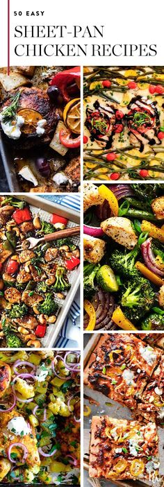 50 Sheet-Pan Chicken Recipes to Make Dinner a Breeze #purewow #food #chicken #recipe #dinner #easy