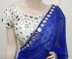 Mirror Work Saree Blouse, Mirror Work Dress, Mirror Work Blouse Design, Fancy Blouse Designs, Bridal Blouse Designs, Saree Blouse Designs, Stylish Dress Designs, Stylish Blouse Design, Sleeves Designs For Dresses