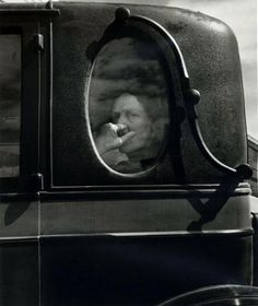Dorothea Lange • Funeral Cortege, End of an Era in a Small Valley Town California, 1938