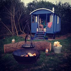 Seren the shepards hut with its fire pit.