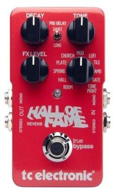 my latest guitar pedal TC Electronic Hall of Fame Reverb