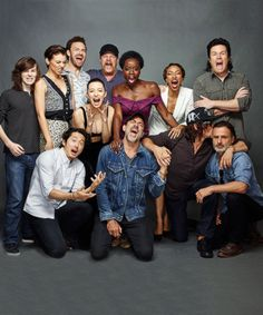 The cast of The Walking Dead photographed by Matthias Clamer for Entertainment Weekly