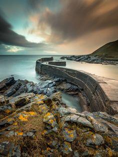 Collieston Harbour long exposure pic, Scotland