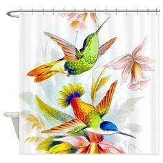 Hummingbirds Love Shower Curtain on CafePress.com