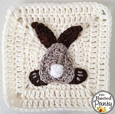 Ravelry: Bunny Bum Applique pattern by The Rusted Pansy