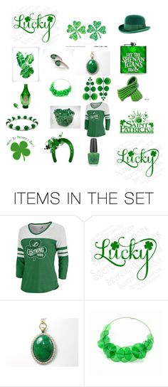 """""""Green For St. Pats"""" by rosi2343 ❤ liked on Polyvore featuring art"""