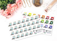 Laundry Planner Stickers 26 Stickers