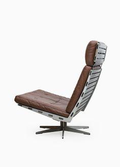 Paul Leidersdorff; Steel and Leather 'Caravelle' Chair for Cado, 1965. Via Studio Schalling.