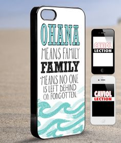 ohana means Family   iPhone 4/4s/5/5s/5c Case  by coviolection, $15.00