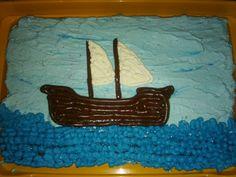 Żaglowiec- tort statek
