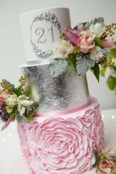 Laya And Peters Stunning Pink Ombre Wedding Cake Absolutely Beautiful Made By Sweet Nature